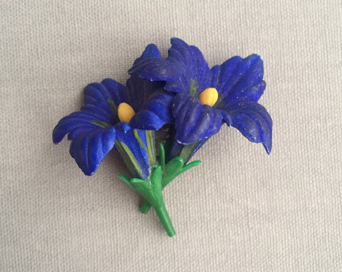 Vintage Hand Painted Celluloid Flower brooch