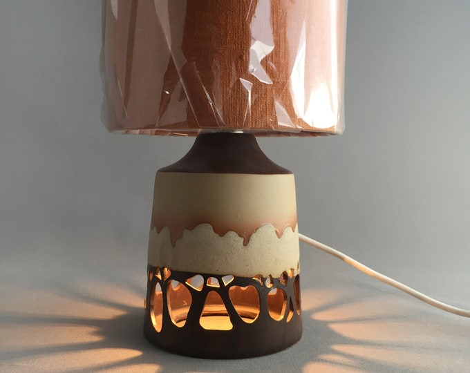 1970s ceramic trees table lamp