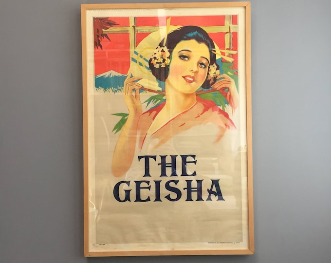The Geisha  original 1930s poster