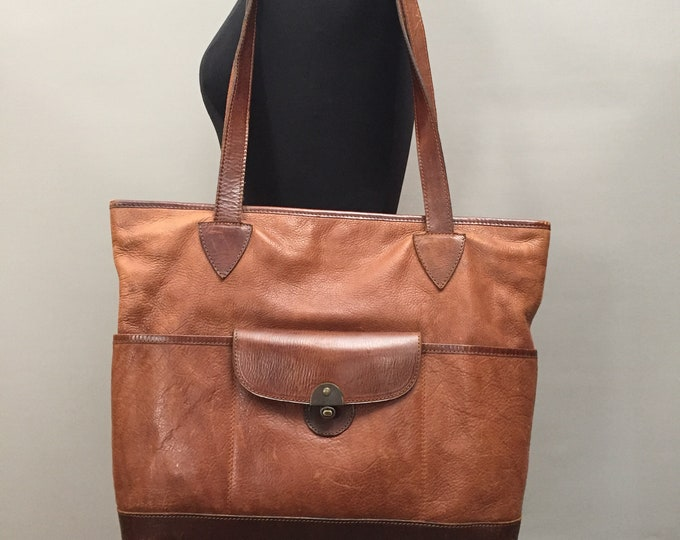Amazing leather shoulder carry all bag