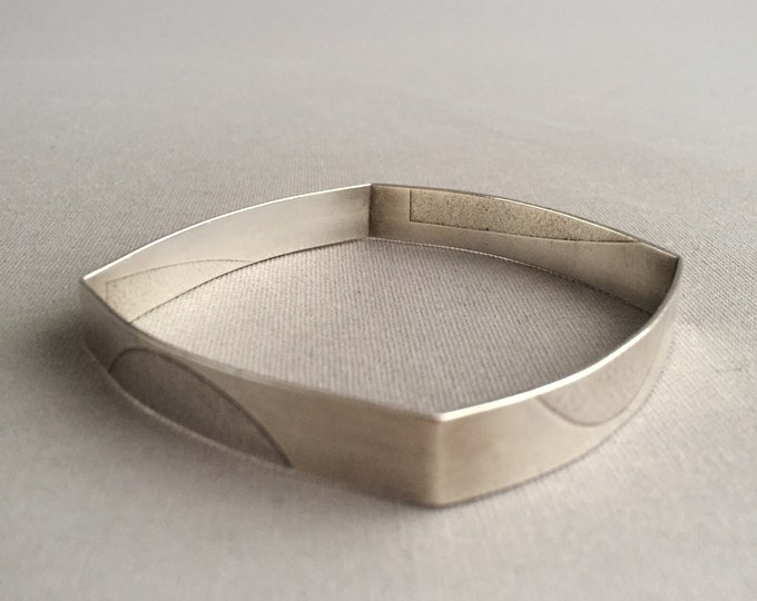 sterling silver cubic bangle