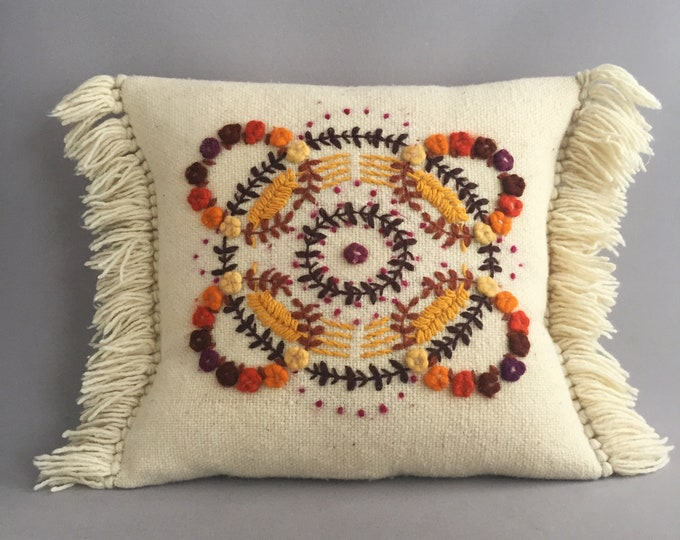 Hand made wool cushion