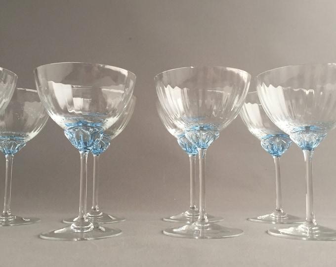 Vintage coupe stem champagne glasses