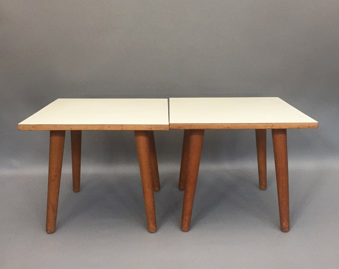 1960s formica top side tables/ coffee table