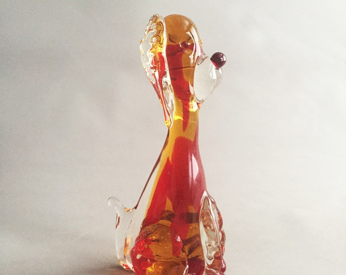 Murano glass poodle
