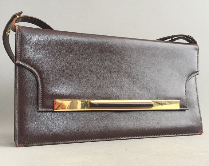 1960s ladies leather hand bag