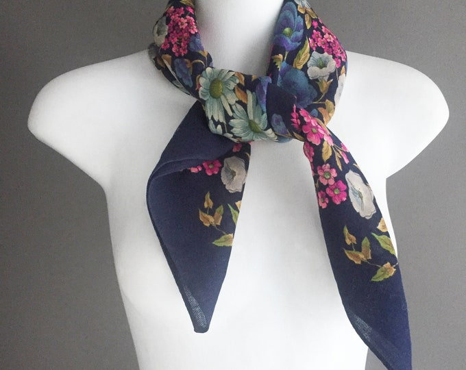 pure wool vintage Liberty of london scarf