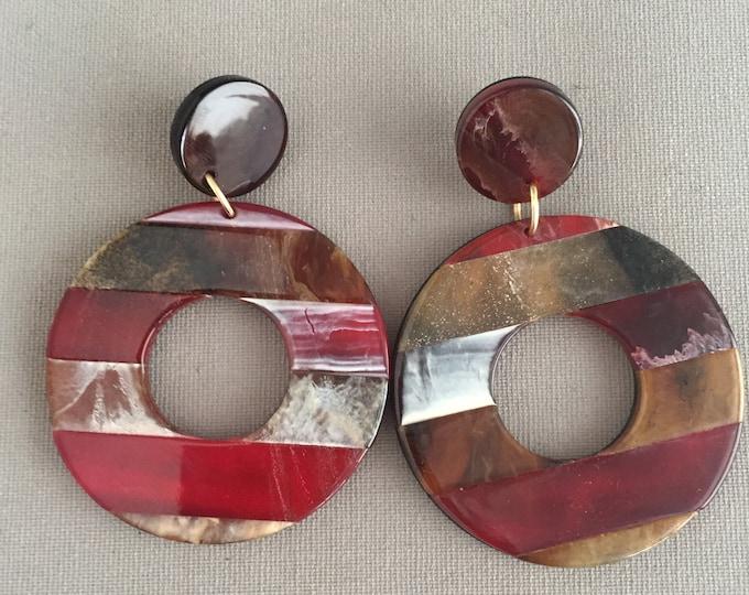 1980s large acetate earrings