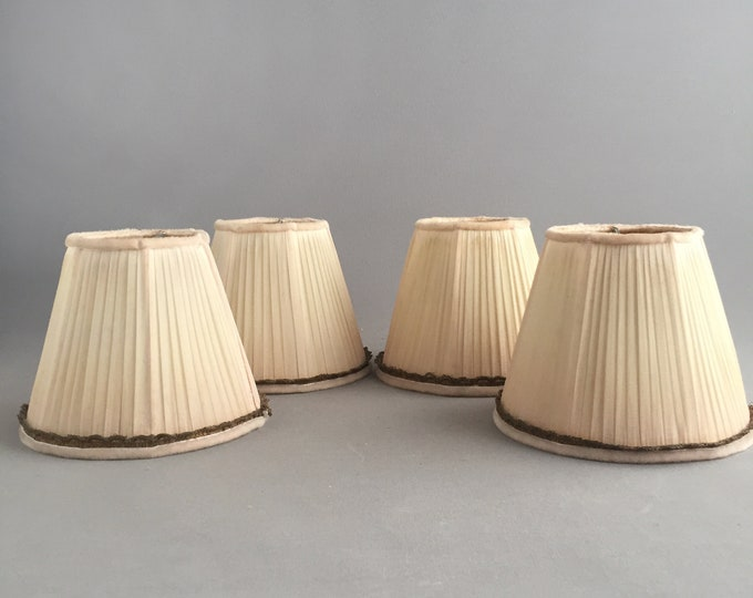 vintage silk candle shades