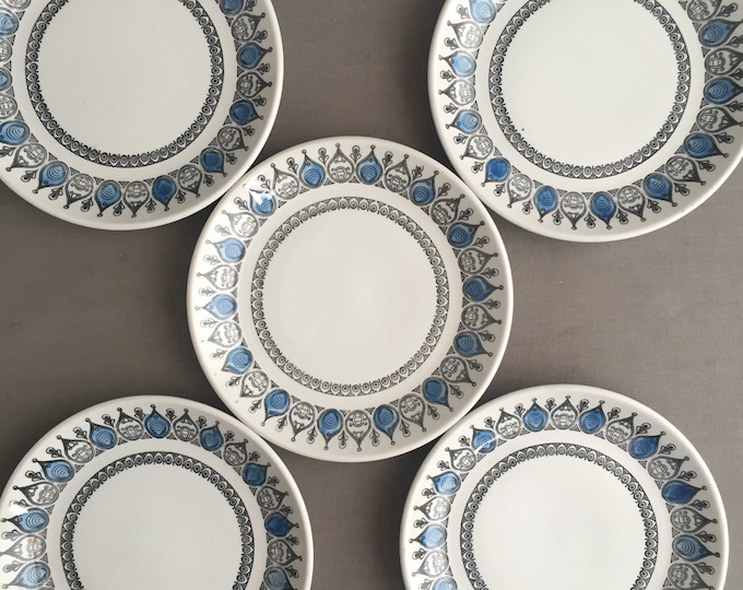 1960s side plates x 5