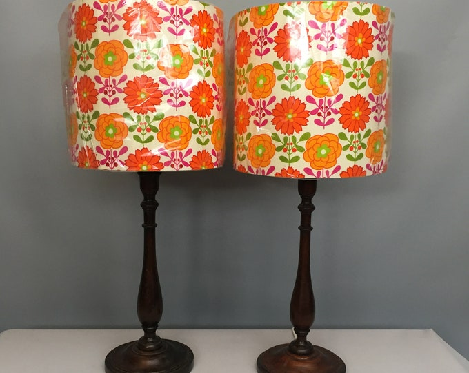 1960s bed side table lamps