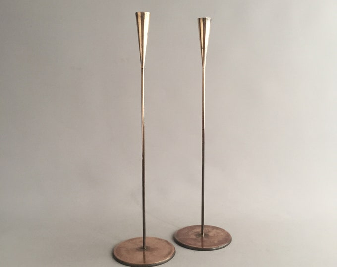 Elegant brass candle stick holders