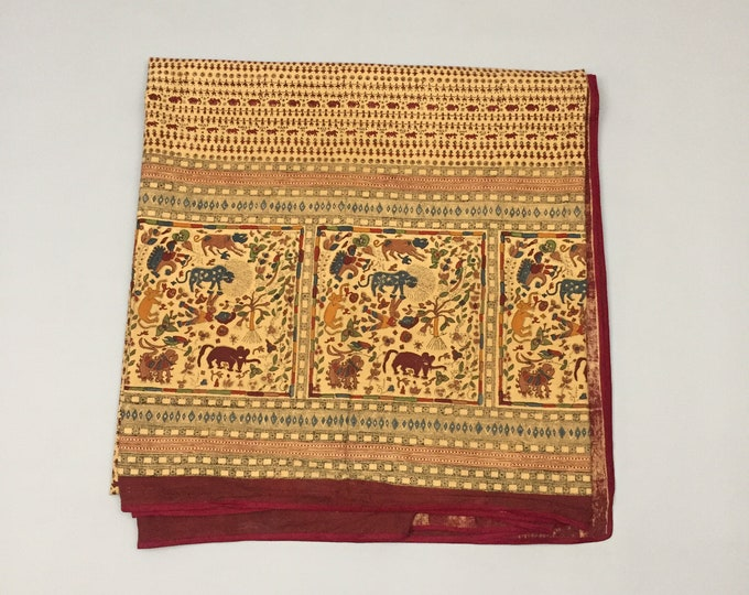 printed indian cotton throw