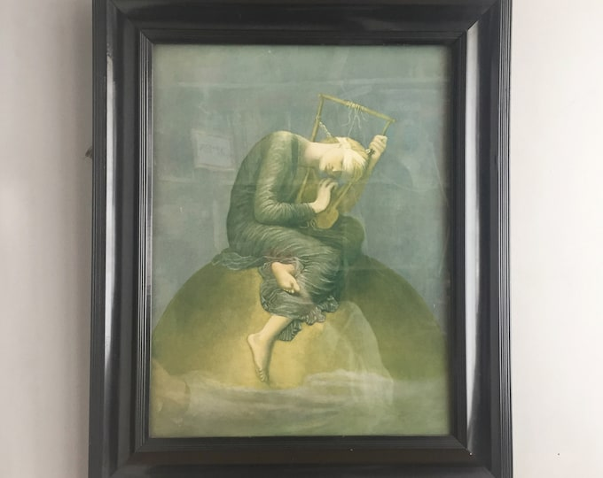 victorian framed print of 'Hope' by  Watts