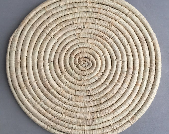 Set of 6 natural woven place mats