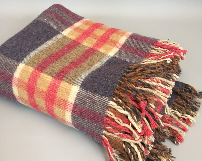 All wool British made rug / Blanket 1960s