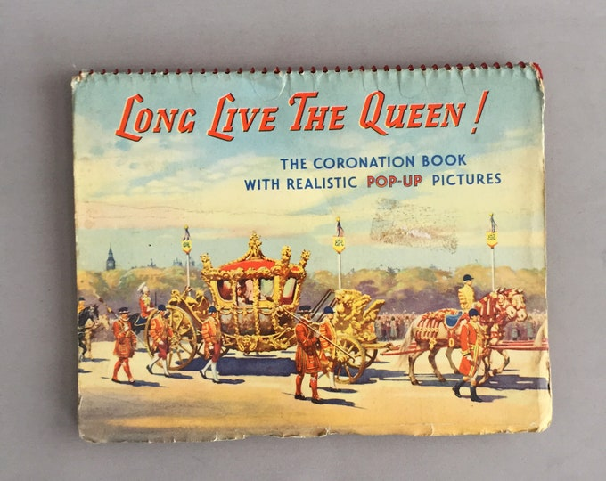 Coronation of queen pop up book souvenir