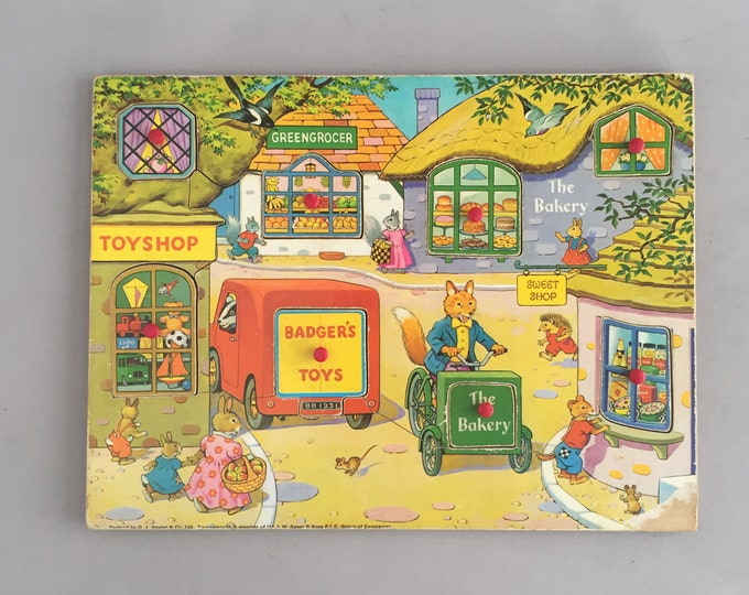1960s wood puzzel