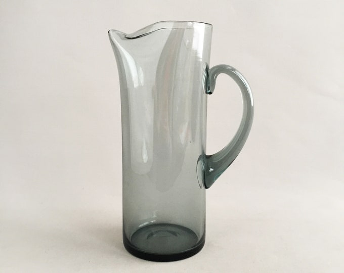 1960 Murano glass jug smokey glass