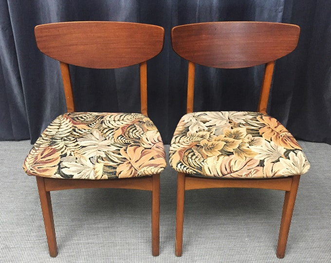A set of teak 1960s dining chairs