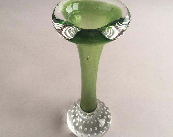 1960s Murano glass bud vase