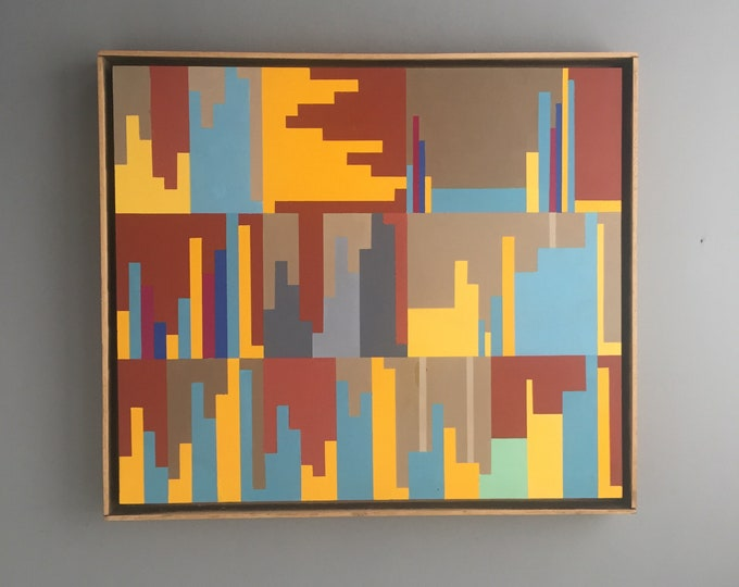 geometric painting by Clifford Myerson