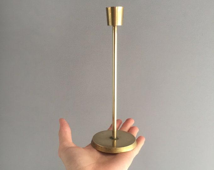 modernist brass candlestick holder