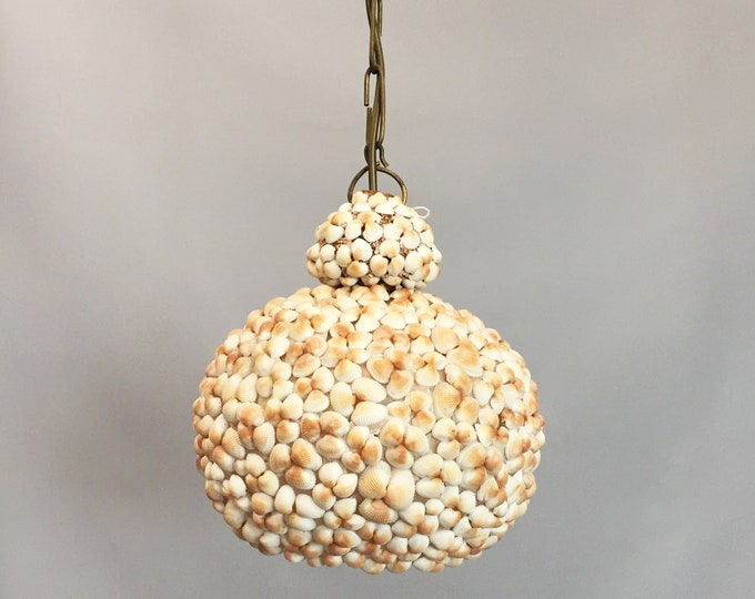 1960s shell pendant lamp