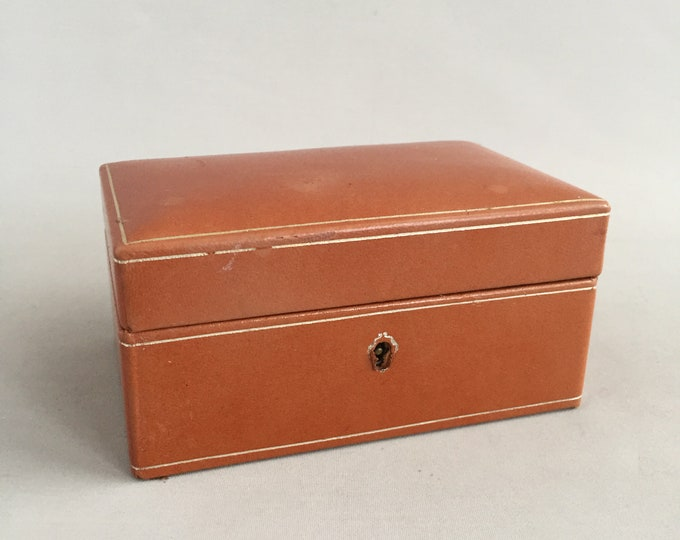 1950s Italian leather jewellery box