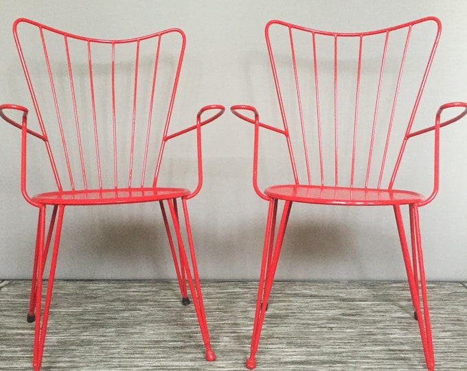 1950s metal arm chairs