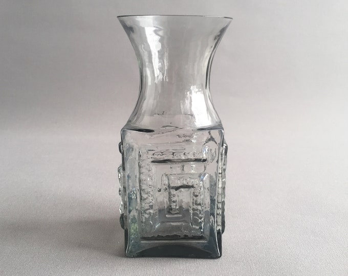 greek key vase by Frank Thrower for Dartington glass