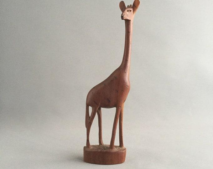 1950s mid century wooden giraffe