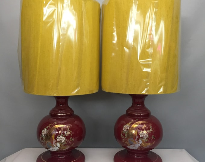 1970s ceramic lamp and shade