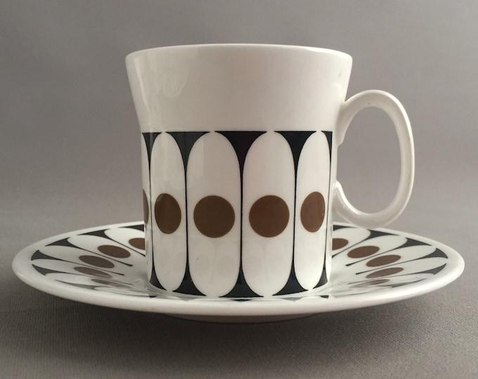 Black velvet coffee cups by John Russell
