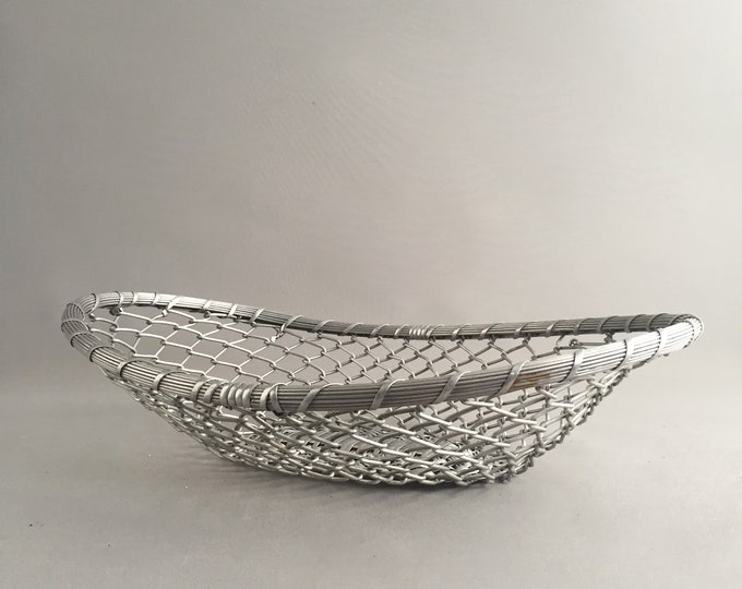 large woven french bread basket