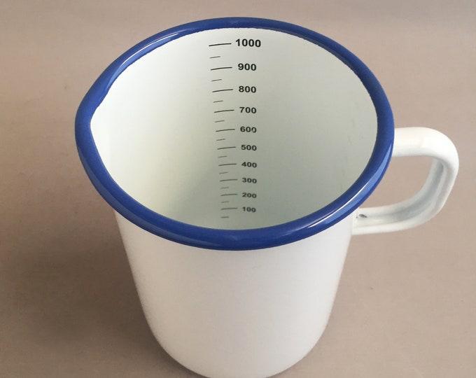 enamelware measuring jug
