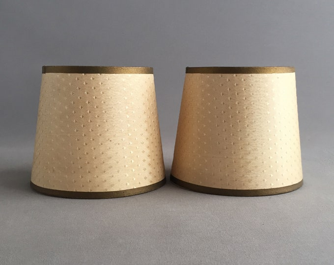 1960s silk candle lampshades