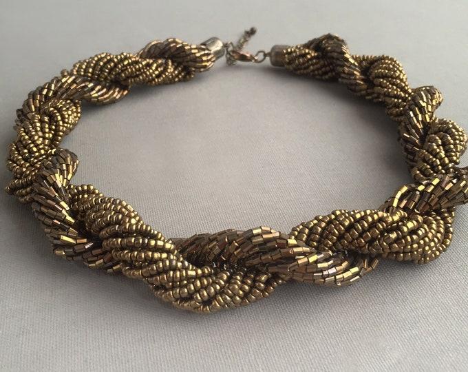 1980s rope bead choker