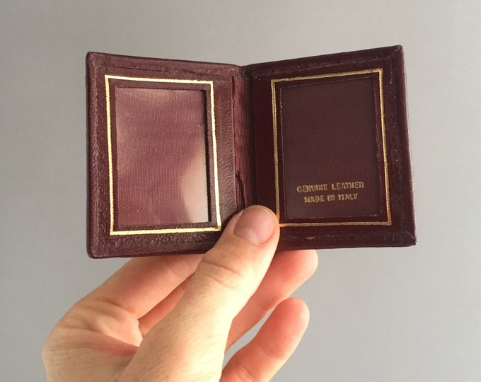 little leather picture frame