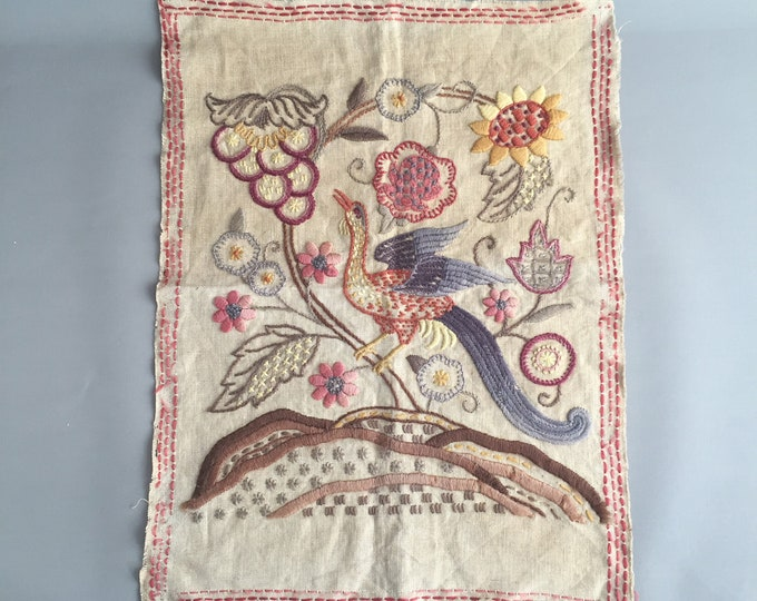 Old embroidered linen