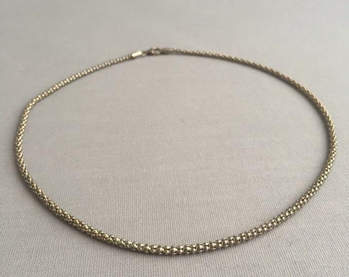 Silver (925) popcorn chain