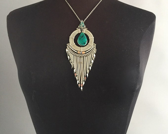 ethnic turquoise necklace