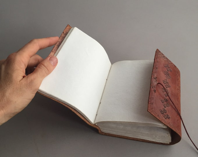 leather hand bound note book