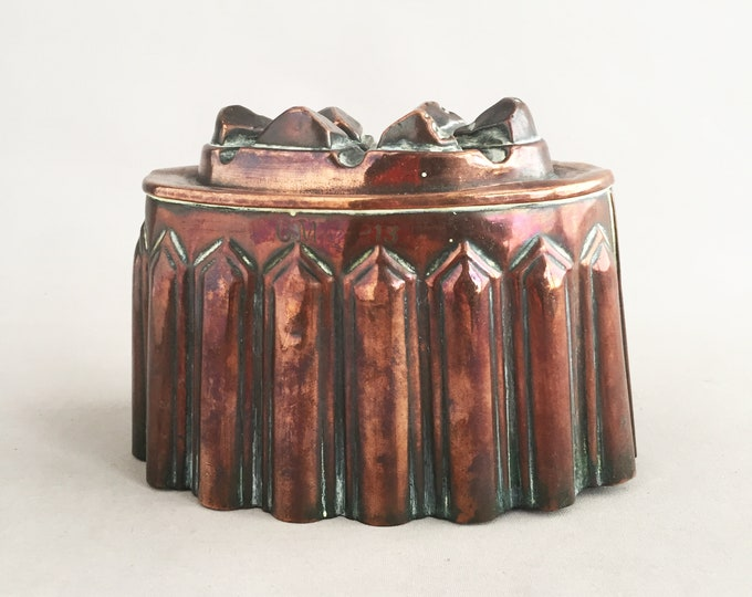 victorian copper jelly mold