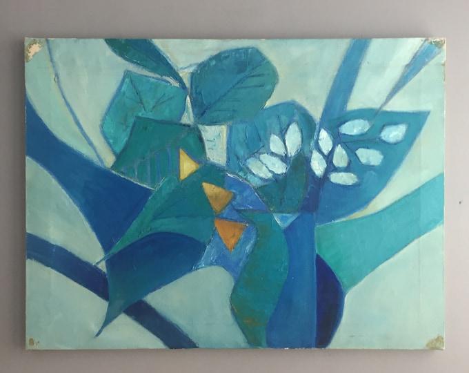 abstract still life oil on canvas