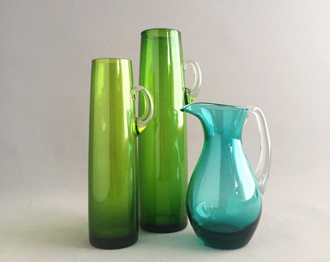 1960s glass trio