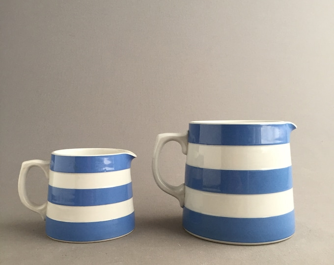 cornishware jugs x 2