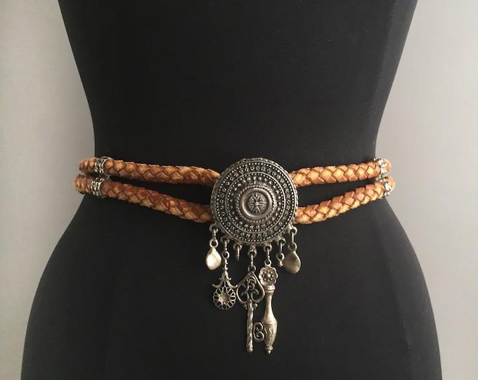 1980s western braid belt