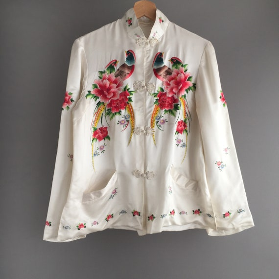 1940s pure silk embroidered jacket