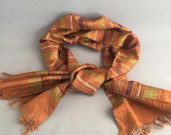 Laotian Pure Silk Handwoven scarf